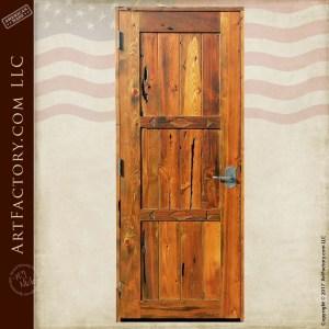 recessed plank wood panel door