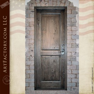 rustic two panel wooden door