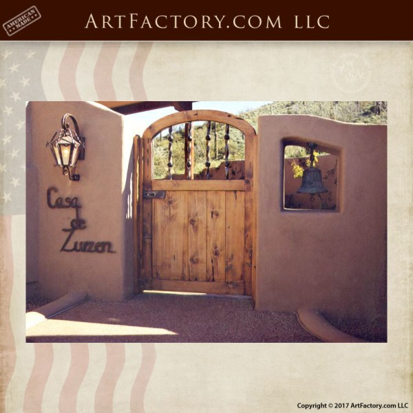 rustic wooden courtyard gate