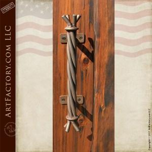 twisted iron door handle