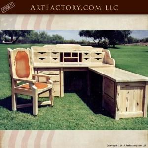 western carved desk