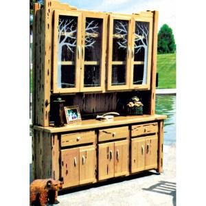 Wood Buffet Hutch Wine Cabinet Custom Made