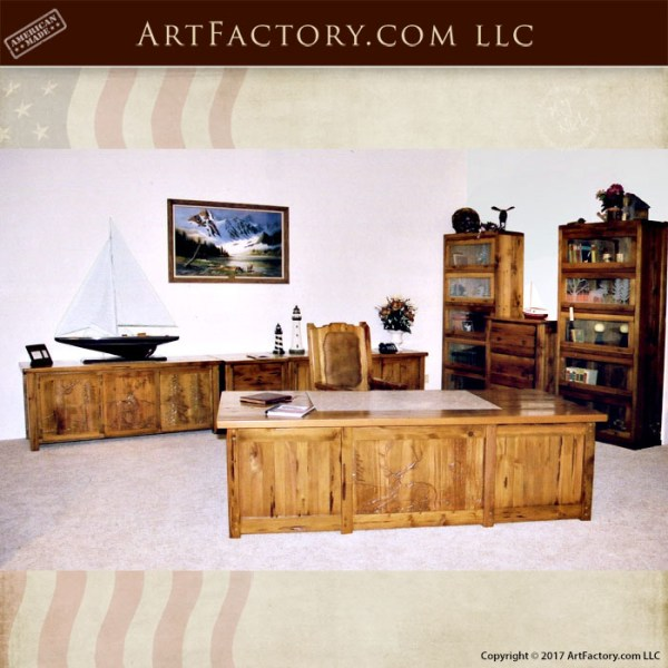 hand carved executive desk