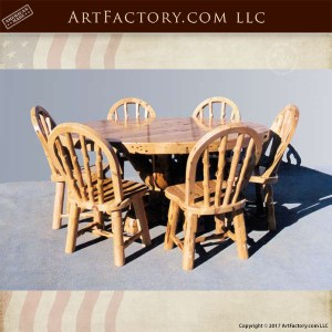 lodge round dining table