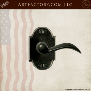 ornamental lever door handle