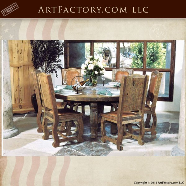 rustic castle dining table