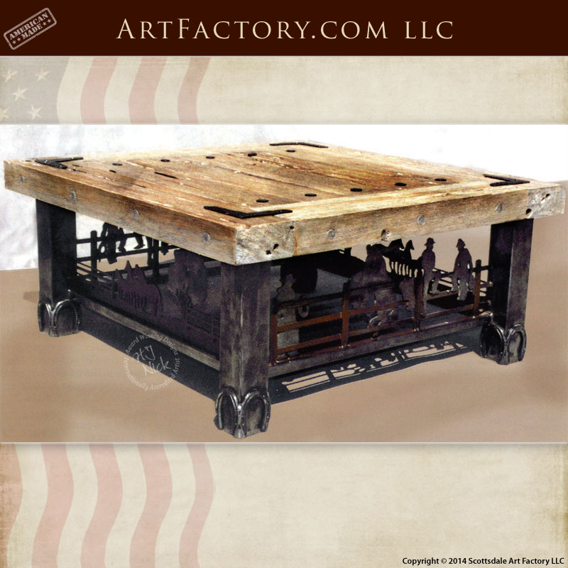western style coffee table handcrafted