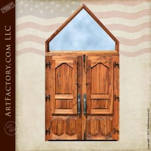 steeple top wood doors
