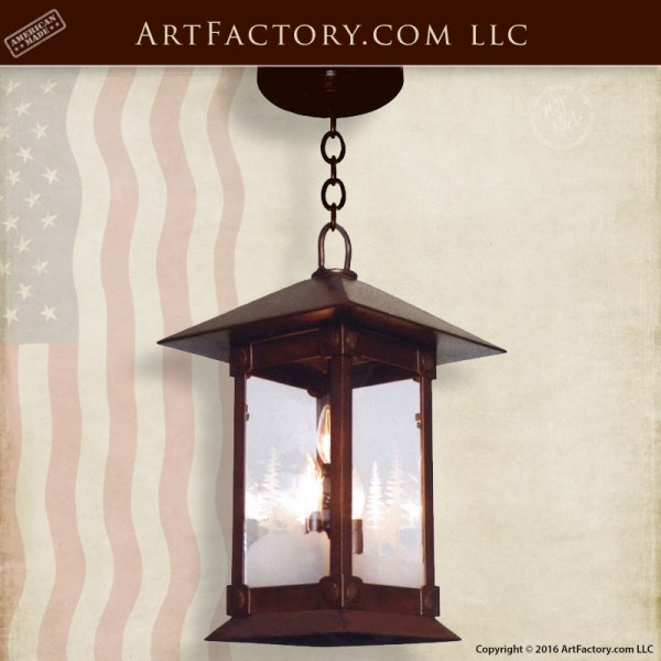 Craftsman Iron Hanging Lanterns