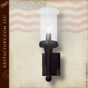 Iron Torch sconce light