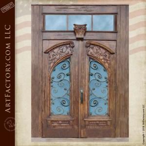Art Nouveau Style Double Doors