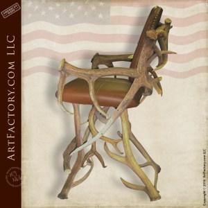 elk antler chair stool