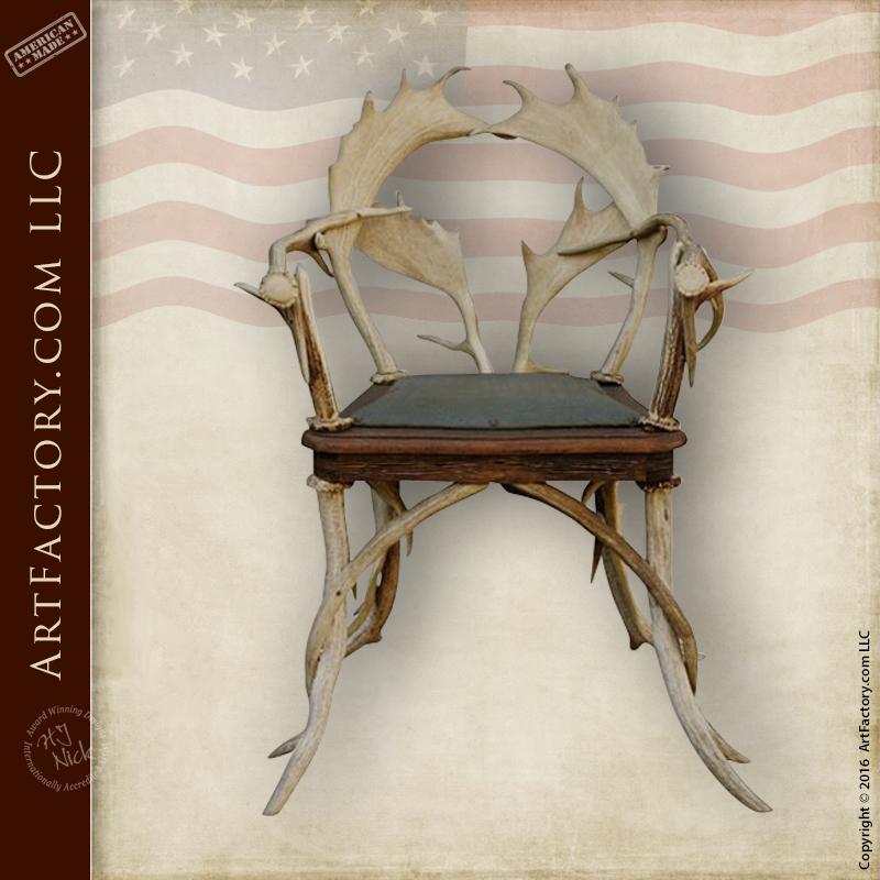 natural fallow deer antler chair
