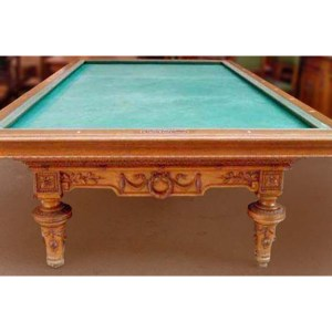Carom Billiard Table France 1850 Carved Table