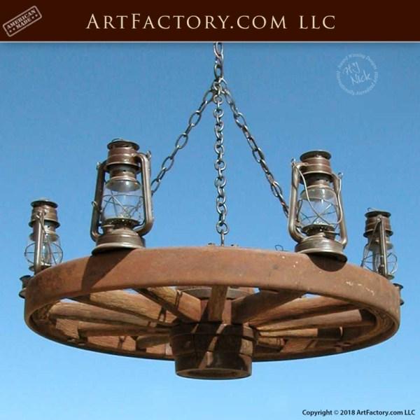 Rare-Antique Wagon Wheel Chandelier