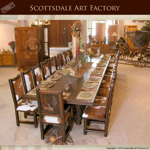 Dining Table Lodge Style | Western Dining Tables | Rustic Dining ...