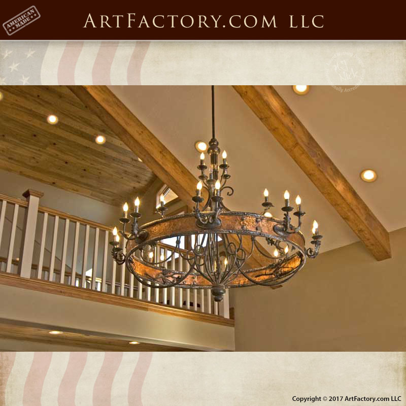 Spanish Gothic Copper Chandelier