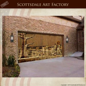 Solid Wood Garage Carriage Doors Master Hand Carved