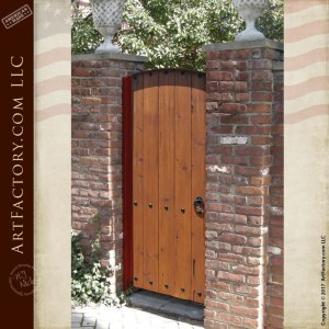vertical plank wooden gate