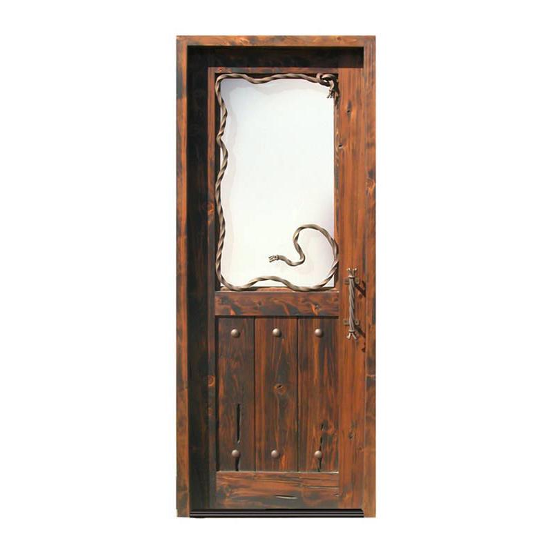 western style entry door