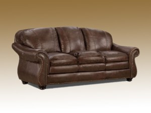 full grain leather custom sofa