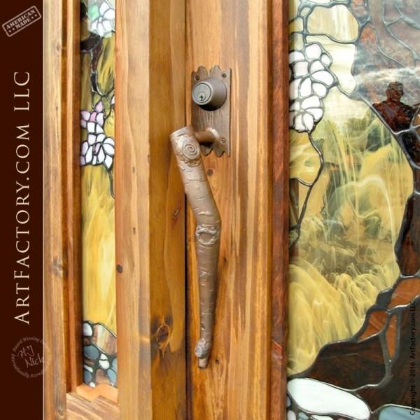 Iron Aspen Branch Door Pull
