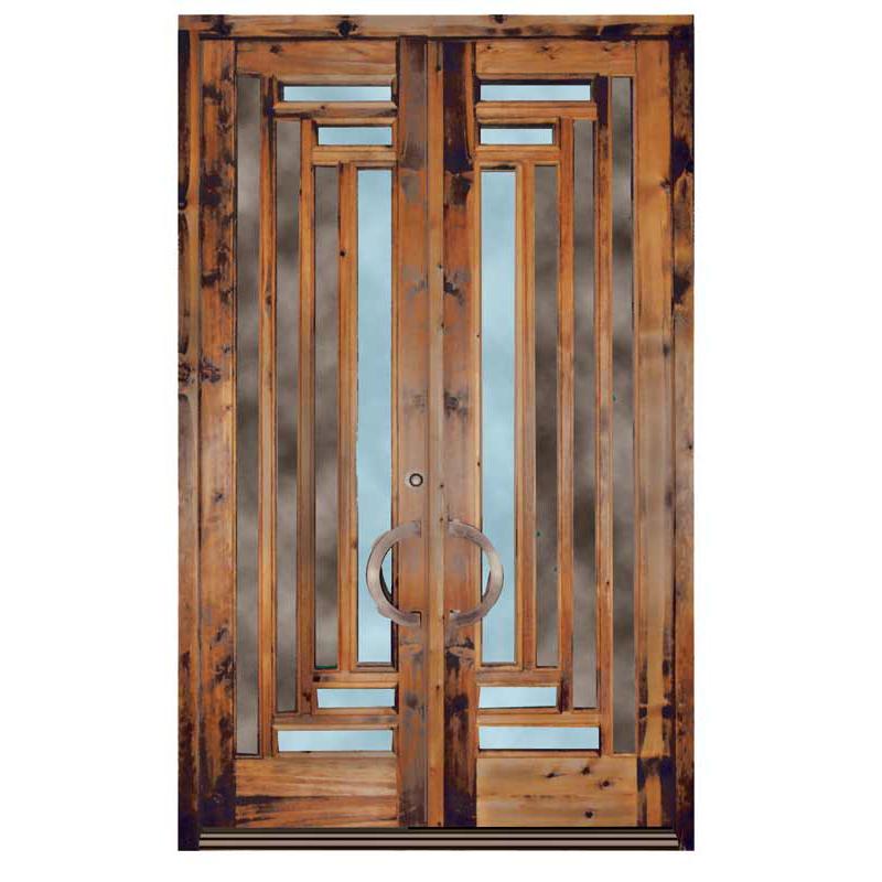 Door Craftsman Style Solid Wood Peg & Dowel