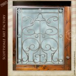 Iron And Glass Custom Hand Crafted Exterior Door