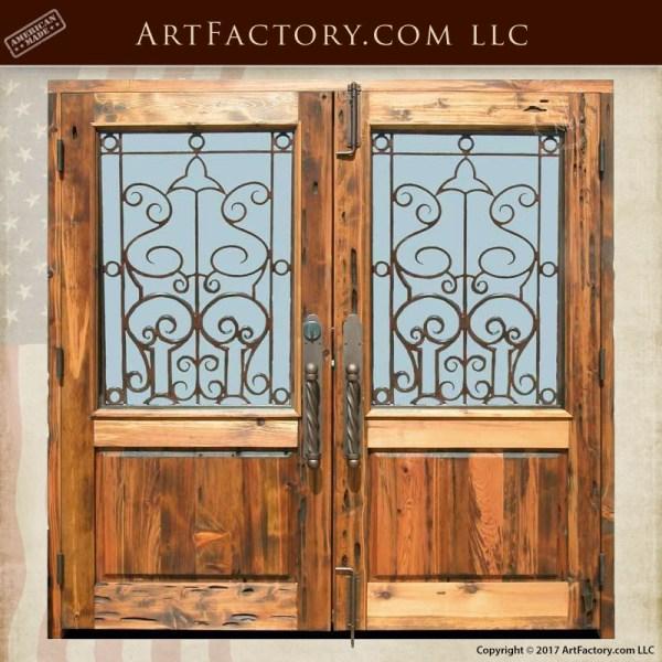 custom handcrafted front door