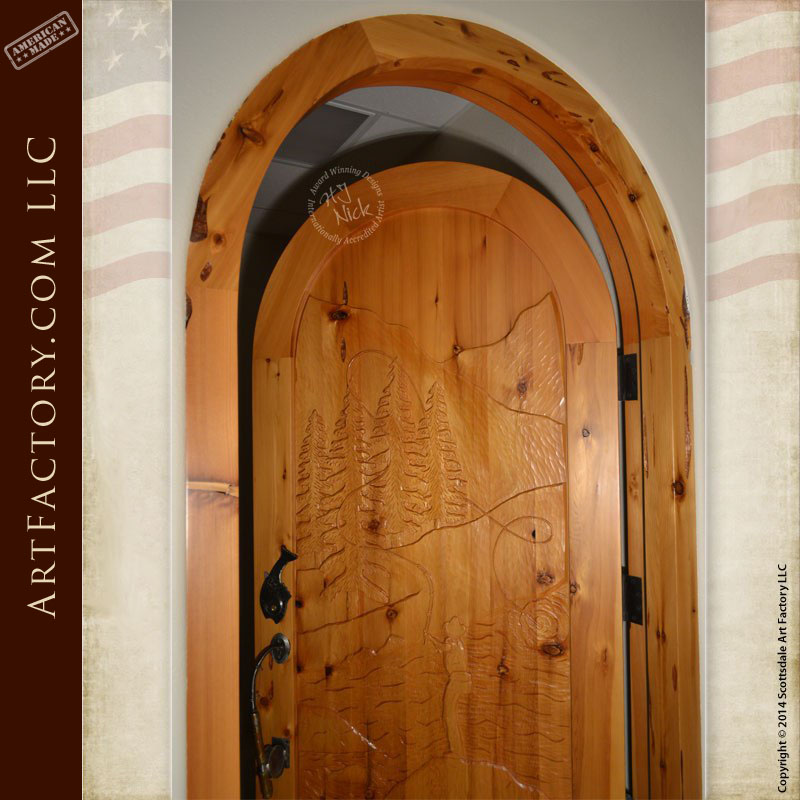 fly fishing theme door