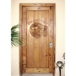 Home Theater Door Hand Carved Comedy & Tragedy