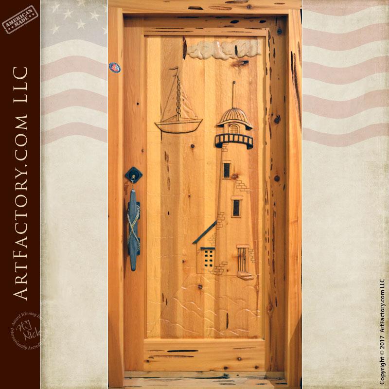 Nautical Hand Carved Door
