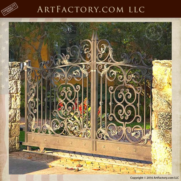 Italian Renaissance Style Estate Gate Solid Hand Forged