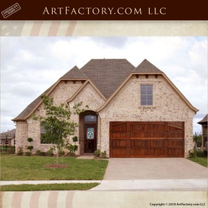 custom handcrafted wood garage door