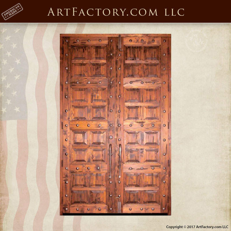 multi-panel wooden double doors