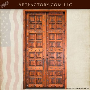 multi-panel wooden double doors