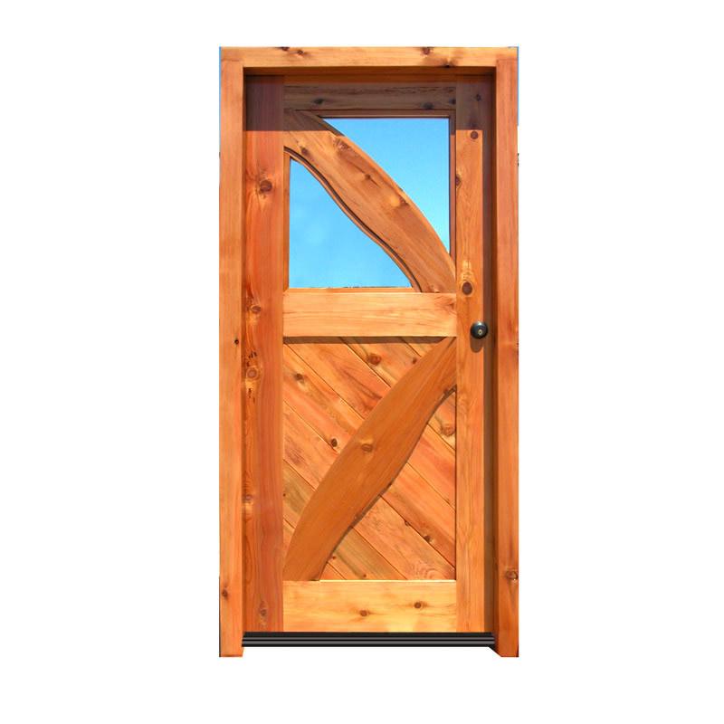 cross buck style custom wood door