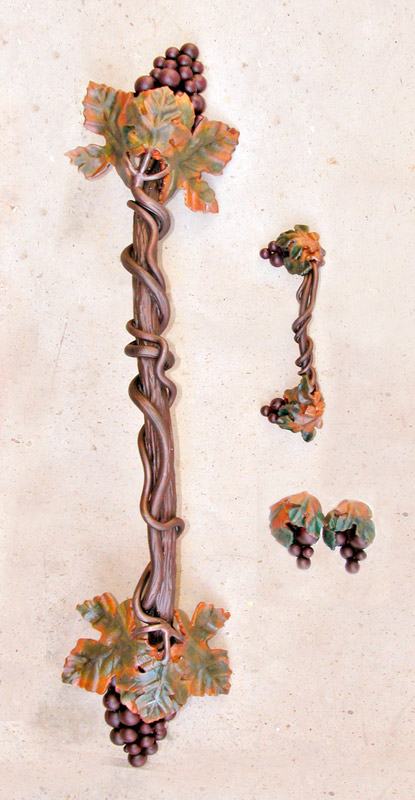 Custom Drawer Pull Grape Vines And Clusters Hh0168a