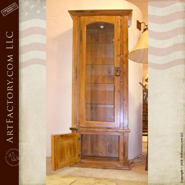 handmade solid wood display cabinet