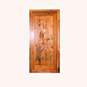 mallard duck custom theme door