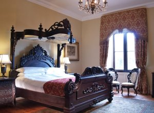 hand carved canopy bed Oliver Castle Ireland