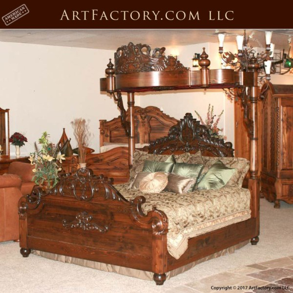 hand carved canopy bed