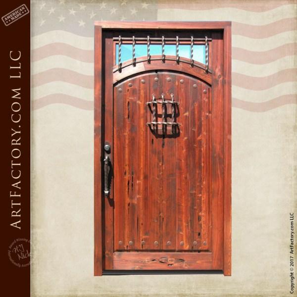 custom wood fortress door