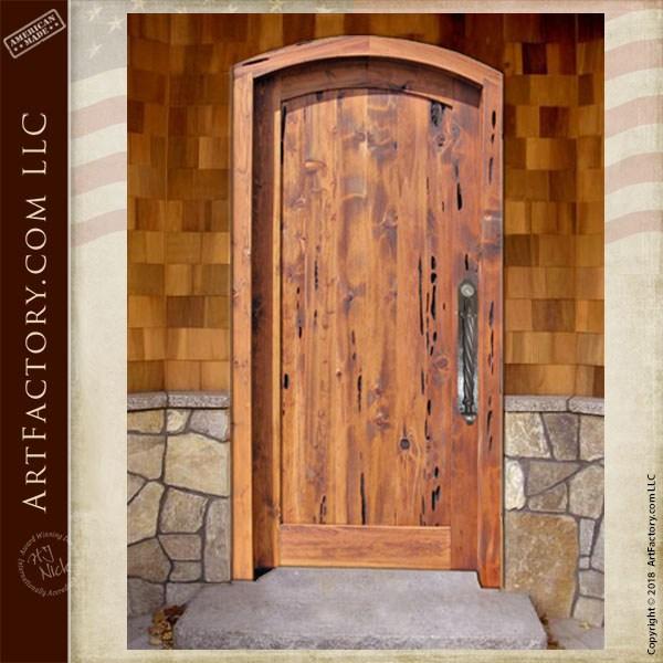Semi Arched Top Solid Wood Door