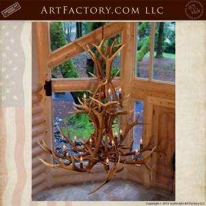 custom elk antler chandelier