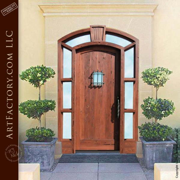 eyebrow arched custom door