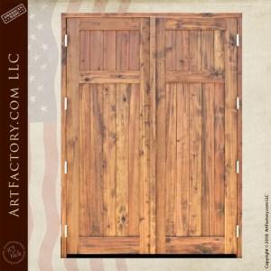 colonial wooden double doors back