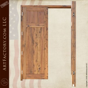 colonial wooden double doors open position