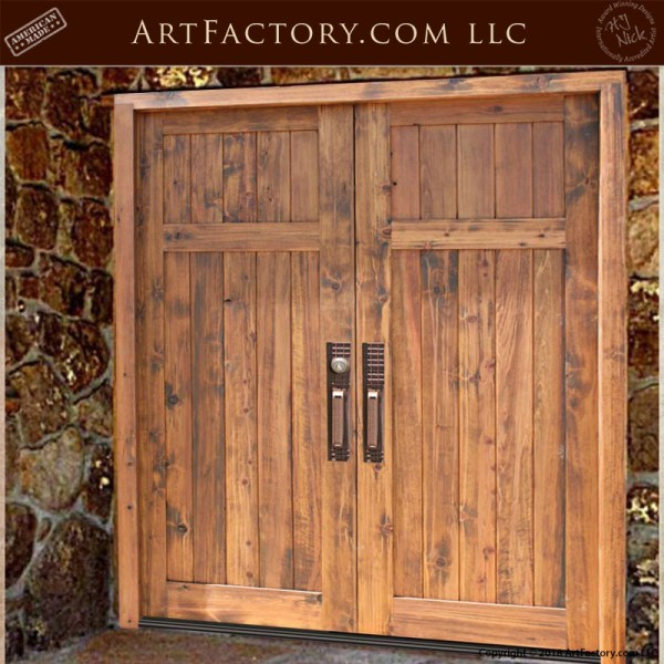colonial wooden double doors