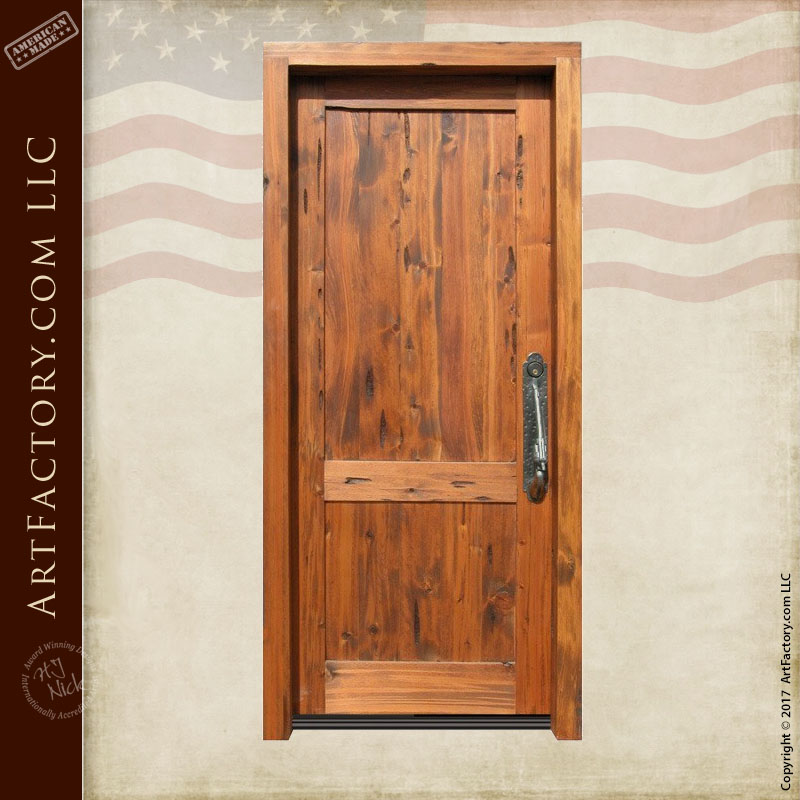 Custom Wooden Front Door Master Handcrafted In The Usa